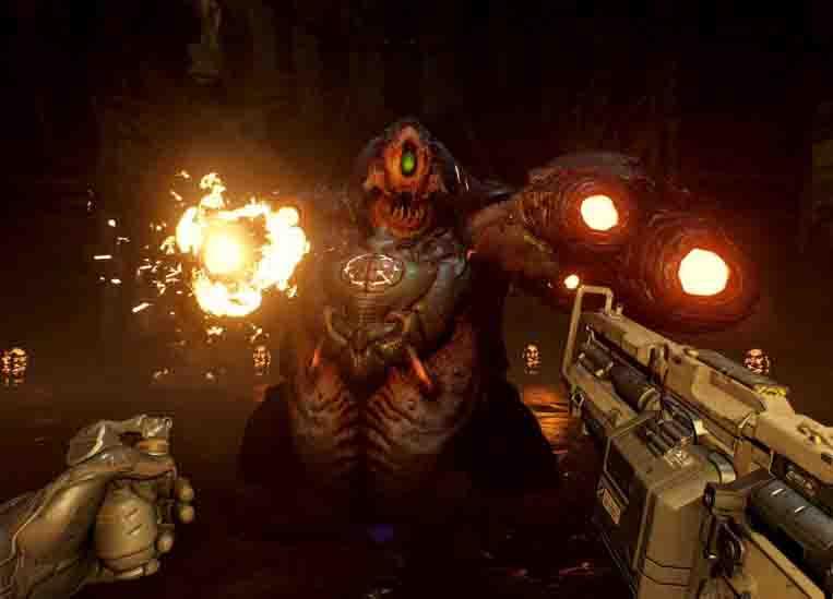 Очень красиво, но играть невозможно. Что думают критики о Doom VFR