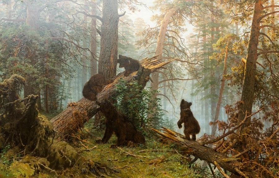 Картину Шишкина иСавицкого «Утро всосновом лесу» воссоздали ввидеоигре