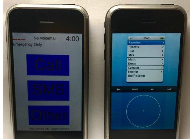 Еще более угловатый прототип ОС для первого iPhone