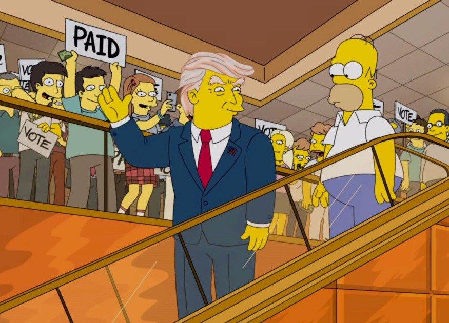«Симпсоны» наехали на Дональда Трампа и выбрали Хиллари
