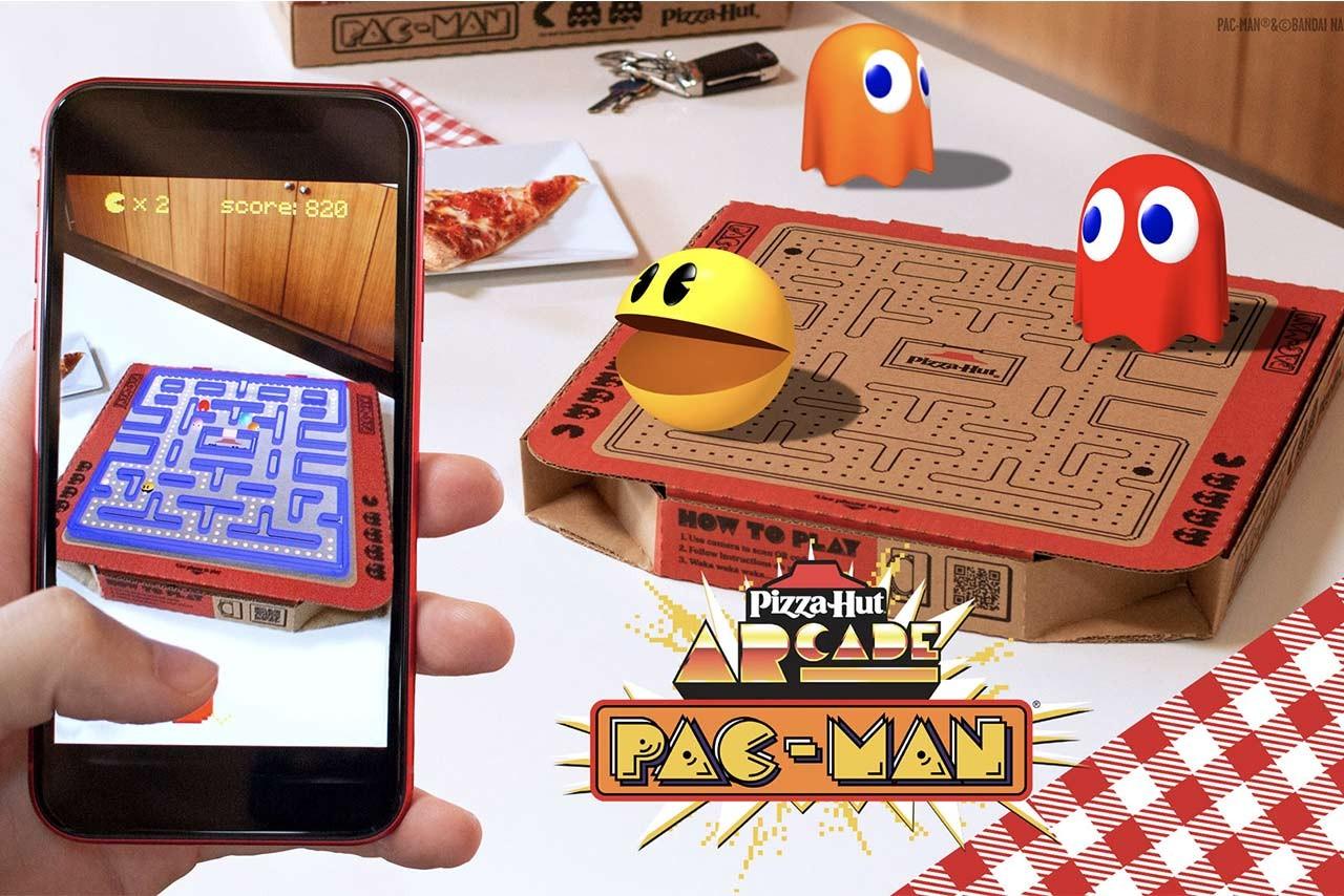 Pizza Hut сделала коробку для пиццы с AR-игрой Pac-Man