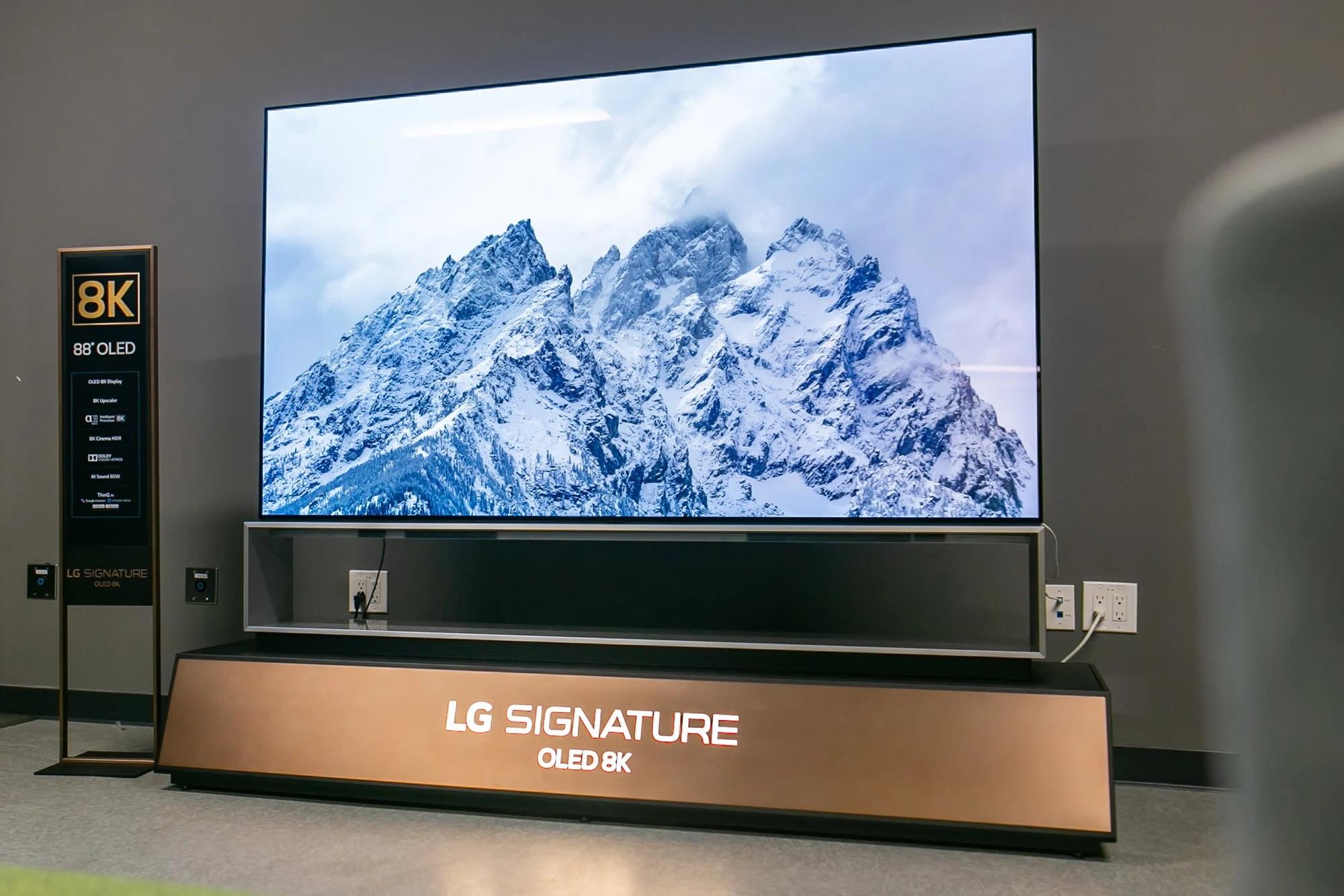 Представлены LGOLED 8K: огромные 120-герцовые телевизоры поцене от1,7 млн рублей