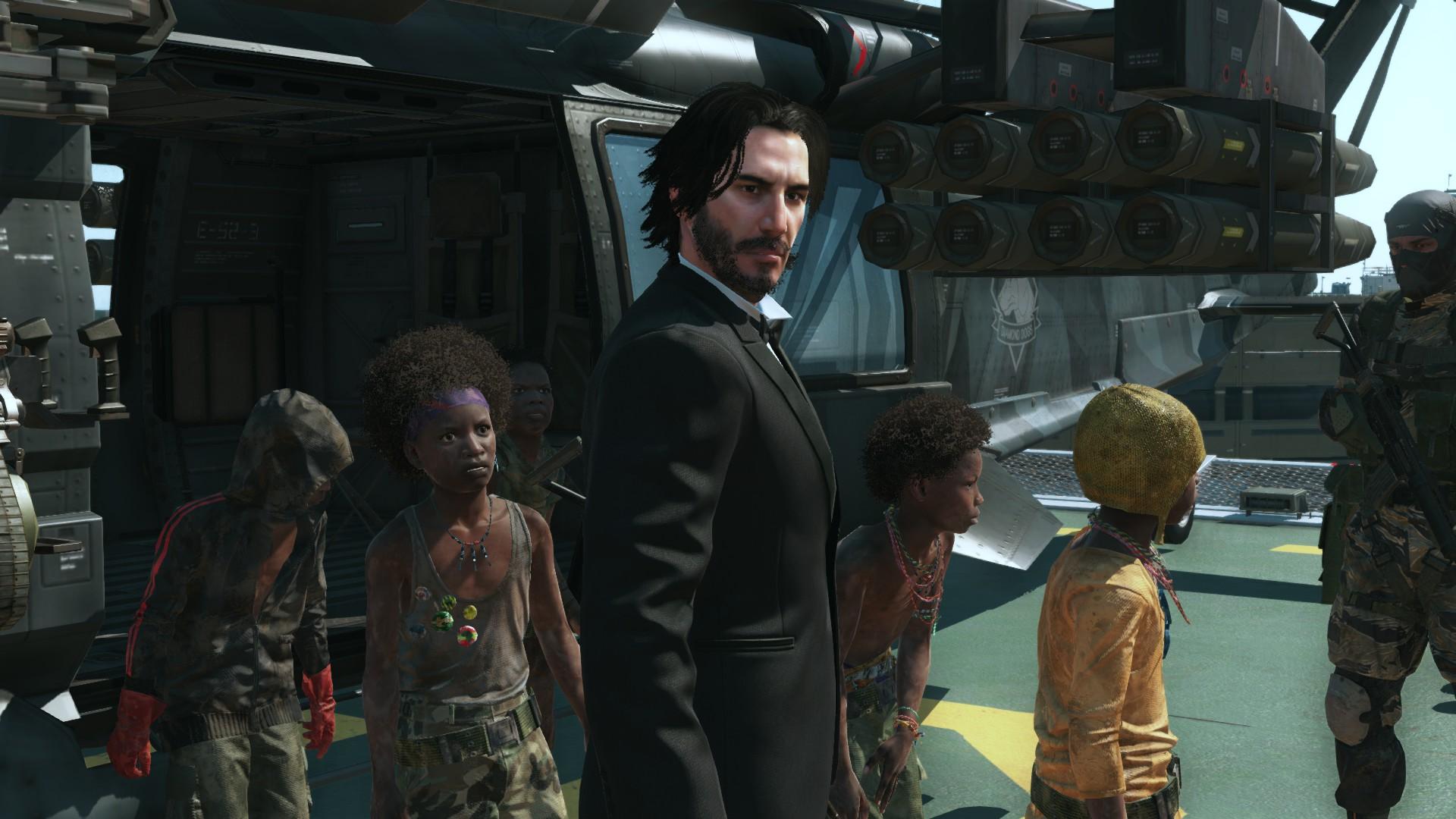 Теперь Metal Gear Solid 5 можно пройти за Джона Уика и Джонни Сильверхенда из Cyberpunk 2077