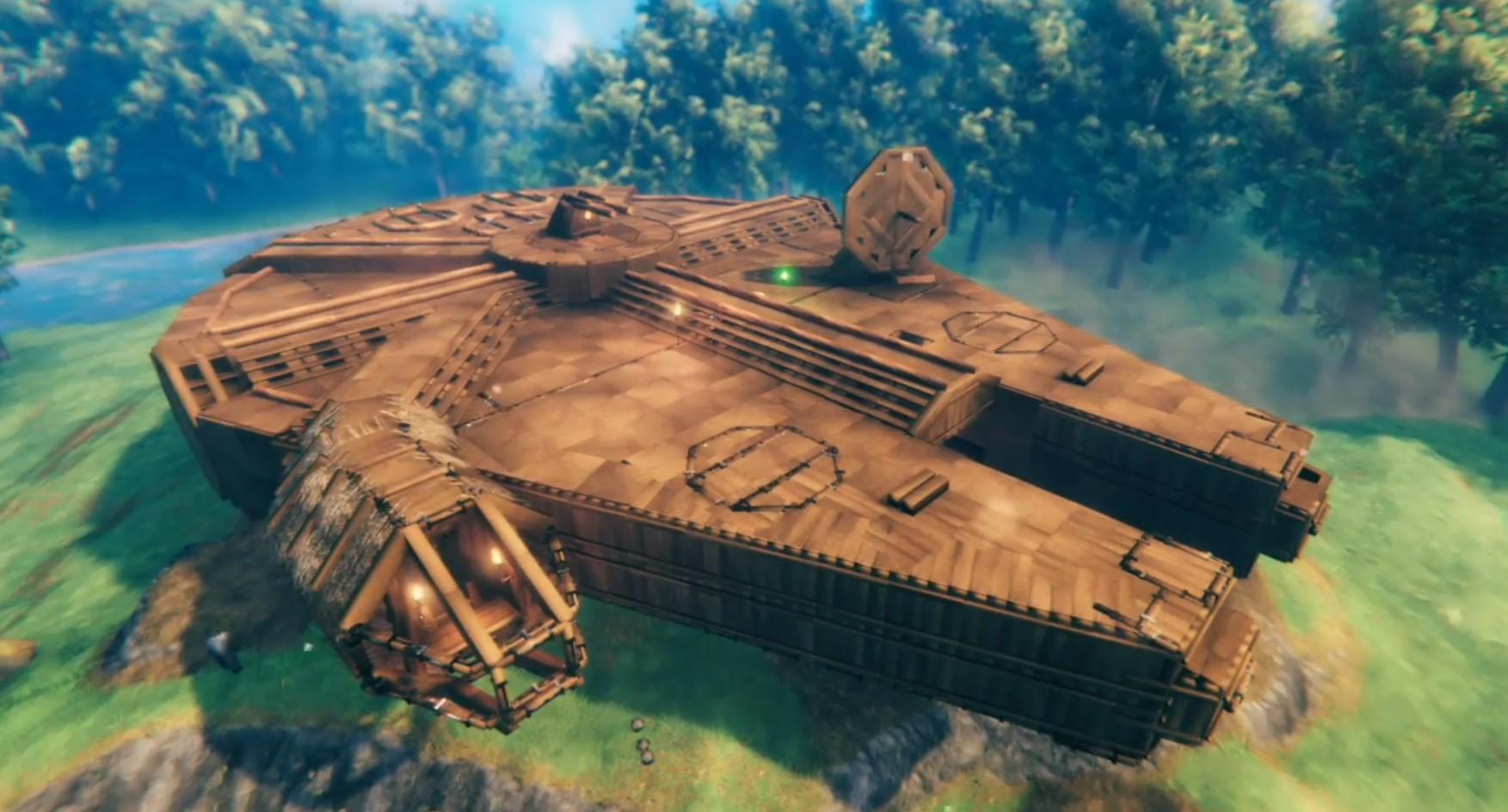 «Архитекторов не остановить»: игрок создал «Тысячелетний сокол» в Valheim