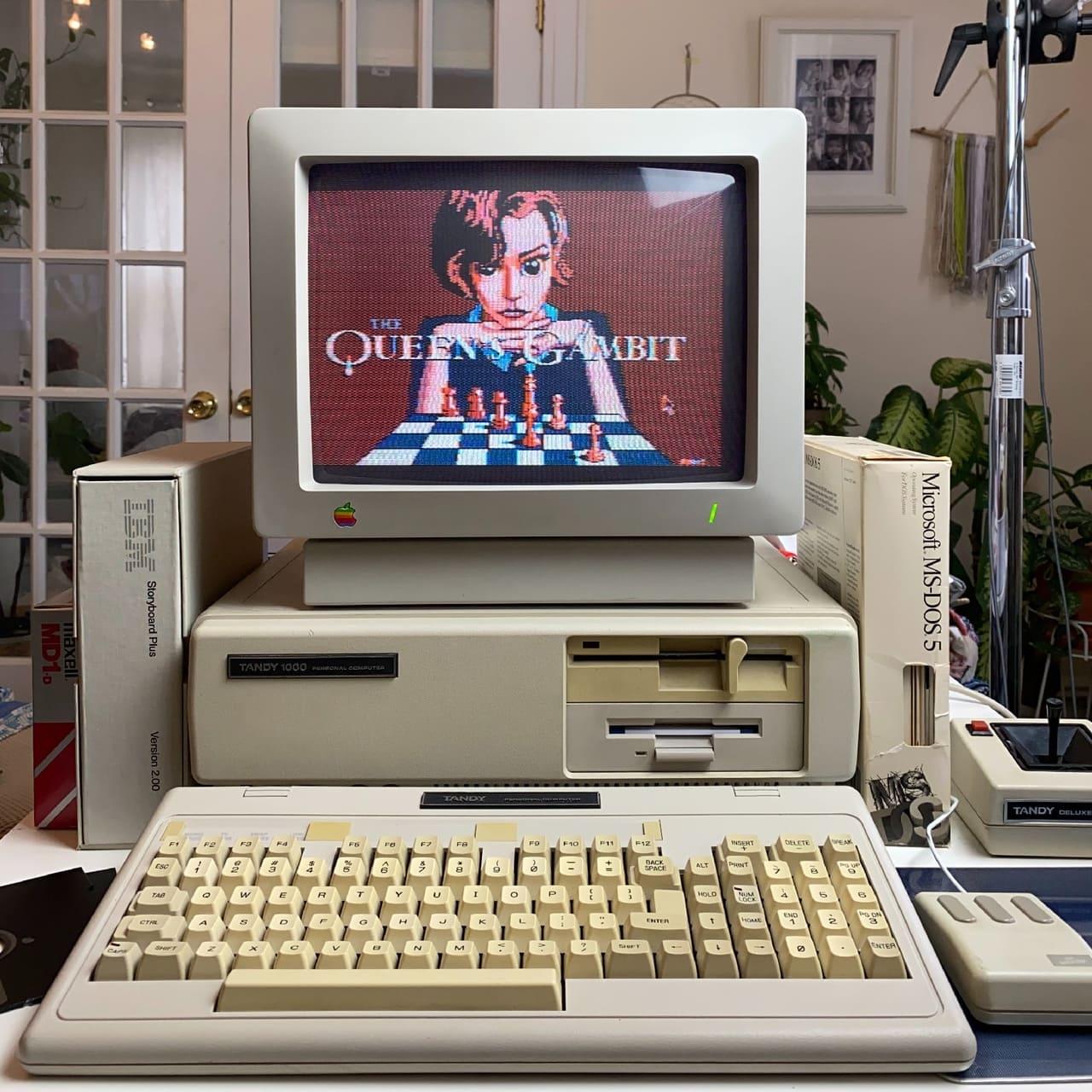 Как моглабы выглядеть игра по«Ходу королевы» наDOS в80-х