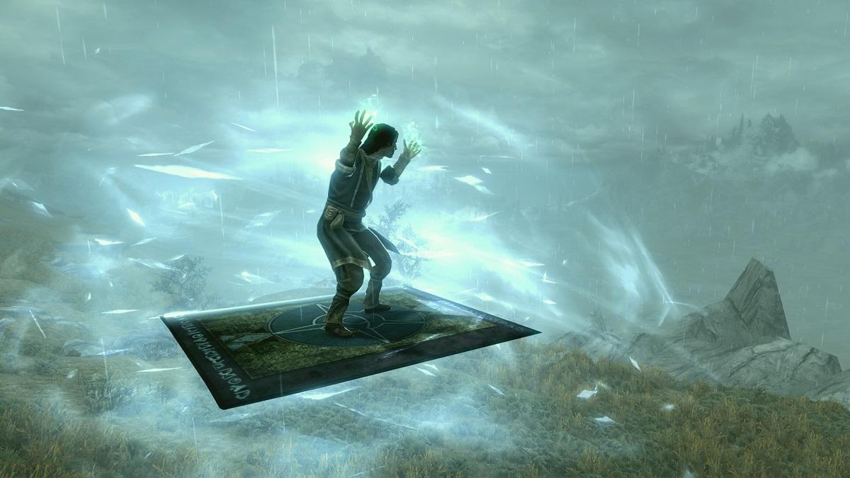 Фанат Skyrim добавил в игру ковер-самолет и еще парочку воздушных маунтов