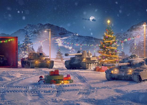 Как игры адаптируются к праздникам. Эволюция новогодних ангаров в World of Tanks