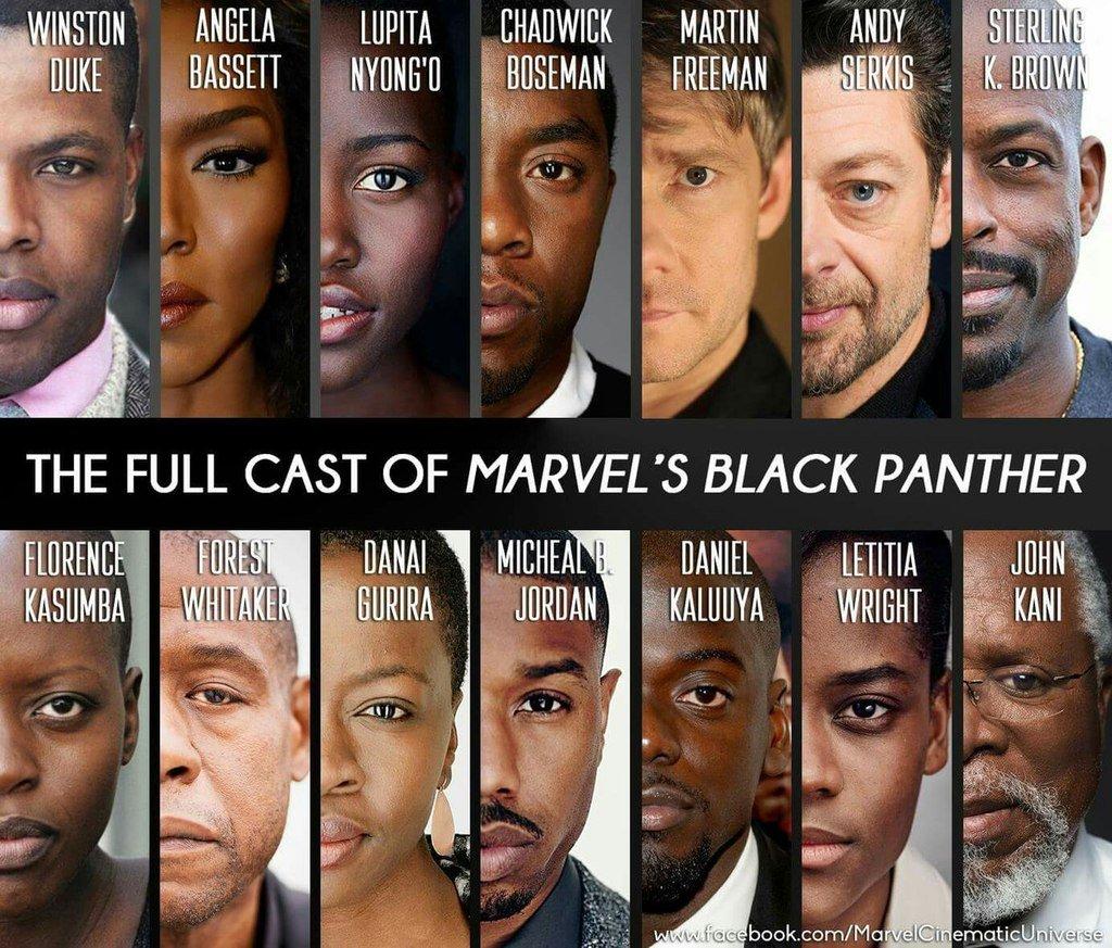 Актерский состав черной пантеры