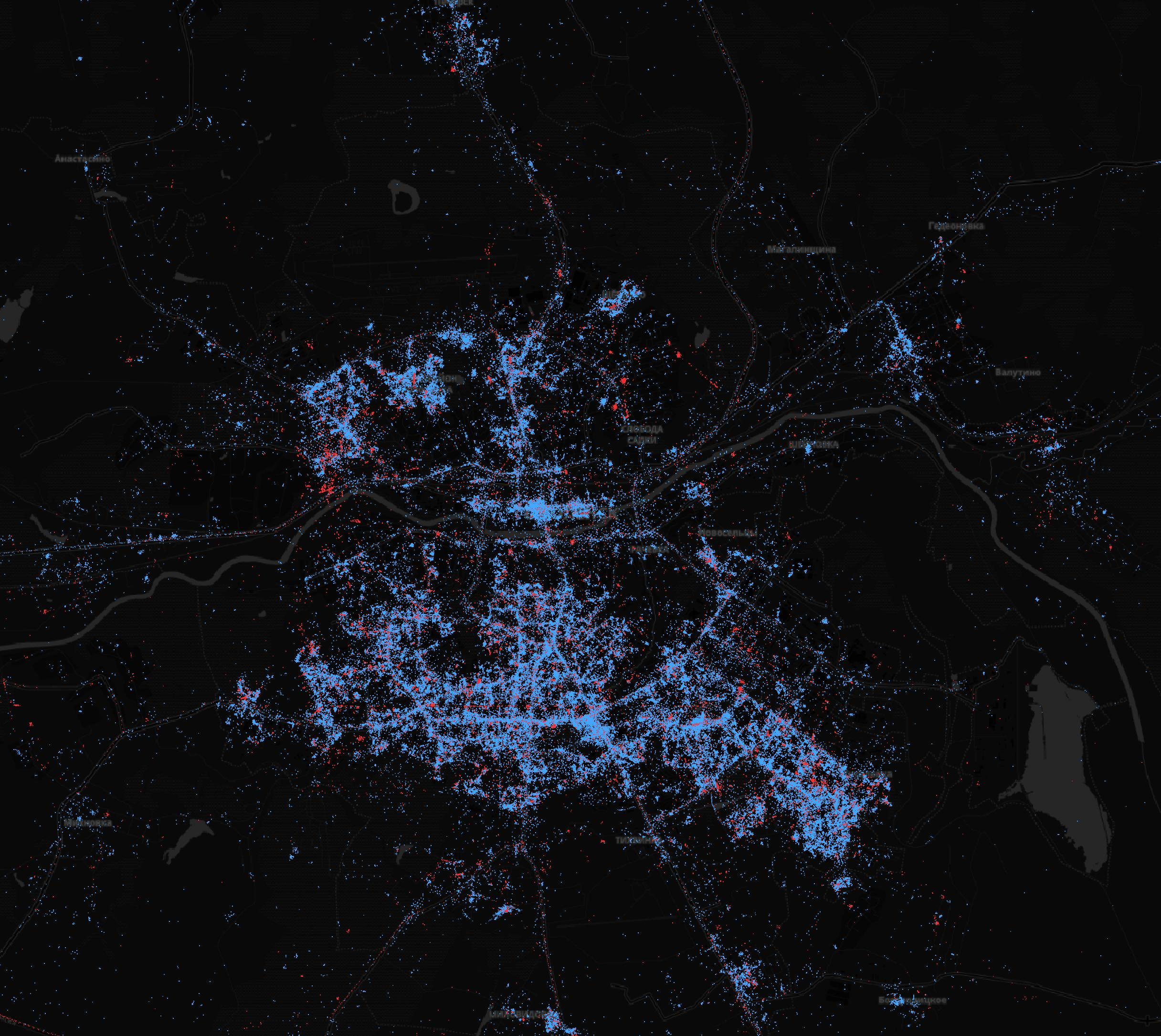 In Moscow - iPhones, in St. Petersburg - Android. What are the maps of Android and iOS users in Russia | Kanobu - Image 8