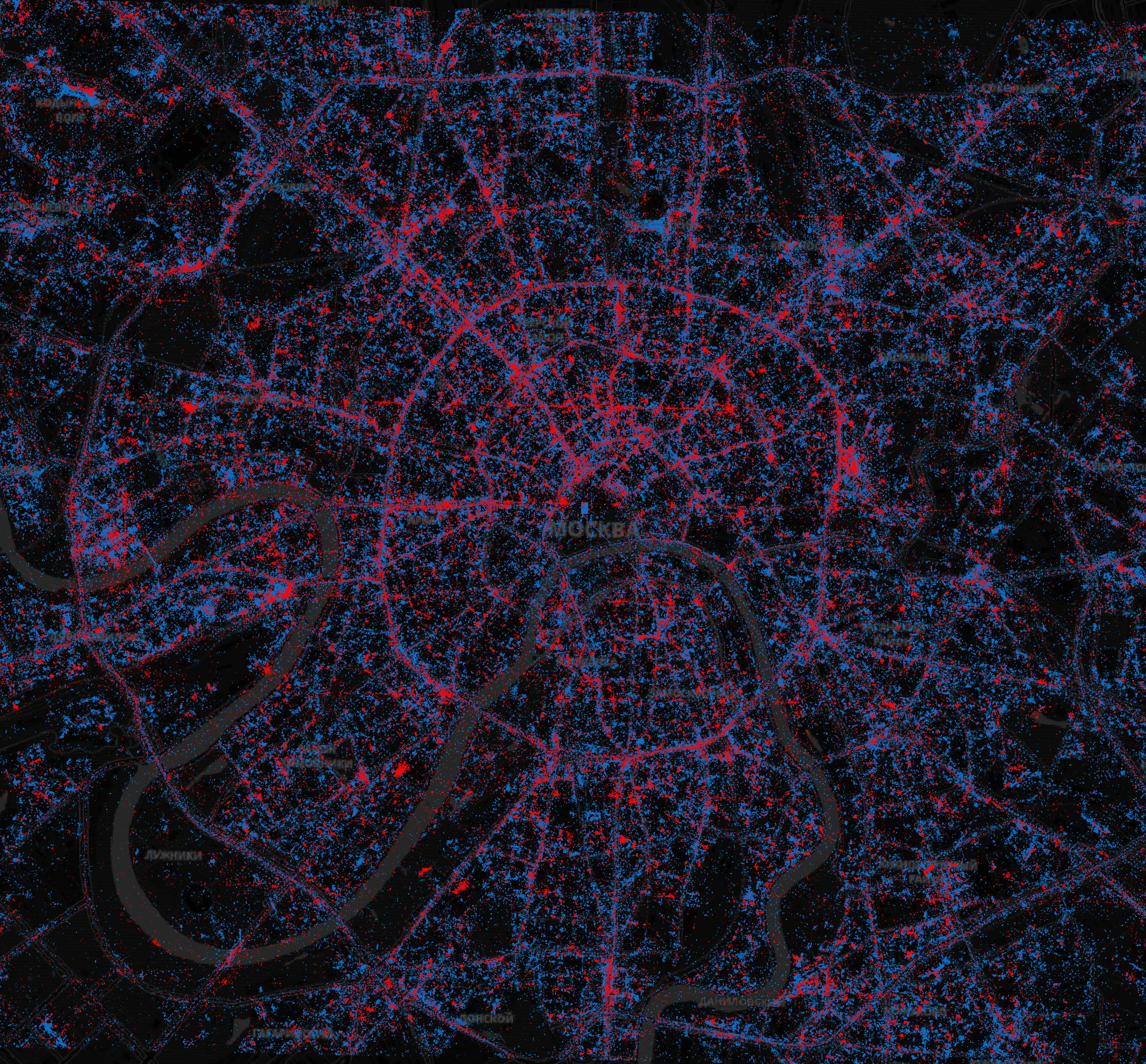 In Moscow - iPhones, in St. Petersburg - Android. What are the maps of Android and iOS users in Russia | Kanobu - Image 1