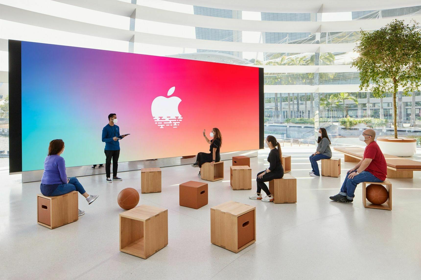 Apple показала изнутри свой плавающий магазин-шар Marina Bay Sands   Канобу - Изображение 6867
