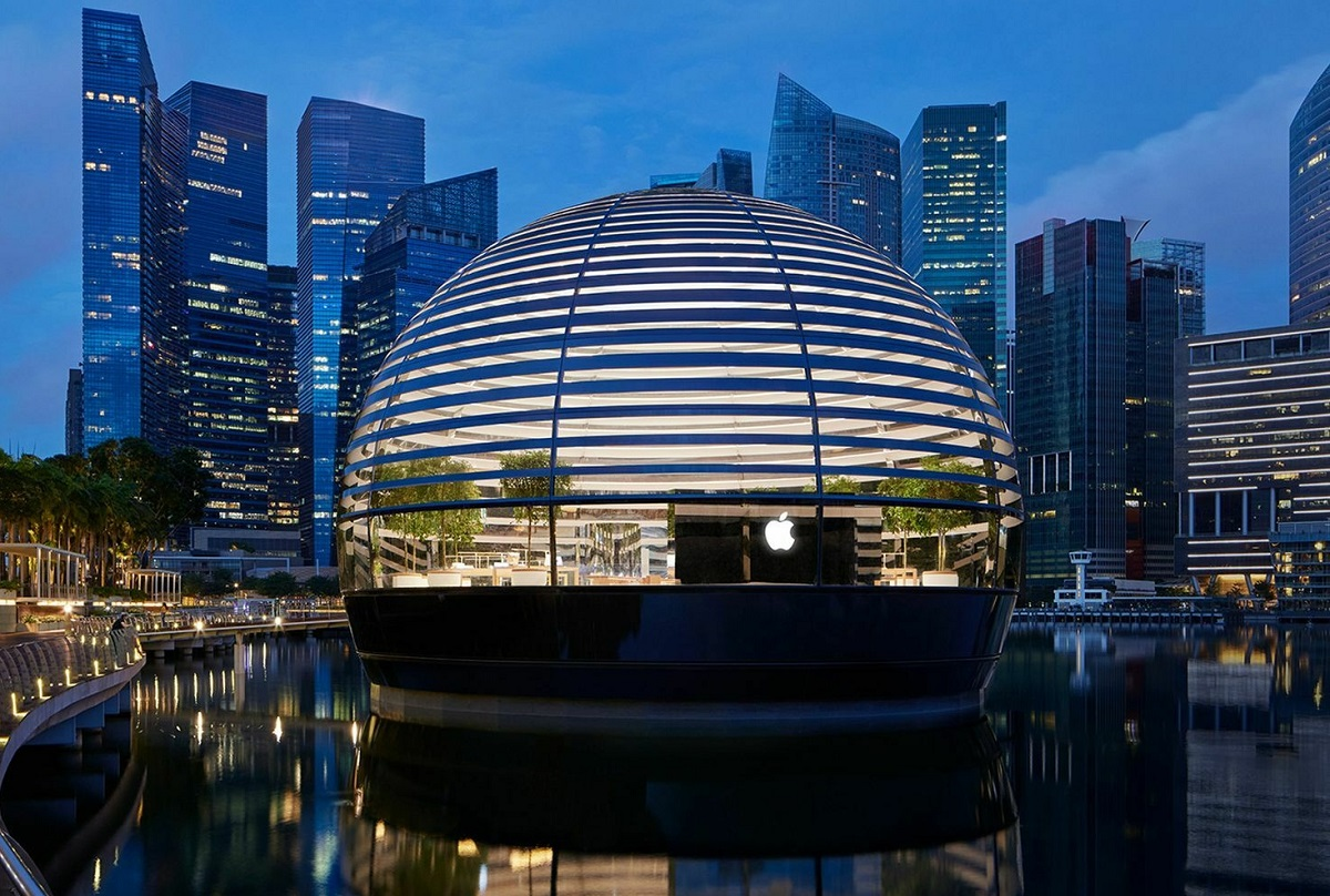 Apple показала изнутри свой плавающий магазин-шар Marina Bay Sands   Канобу - Изображение 6869