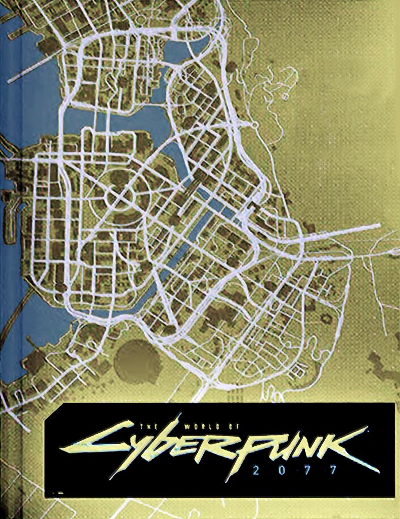 Карта мира Cyberpunk 2077 попала на обложку артбука