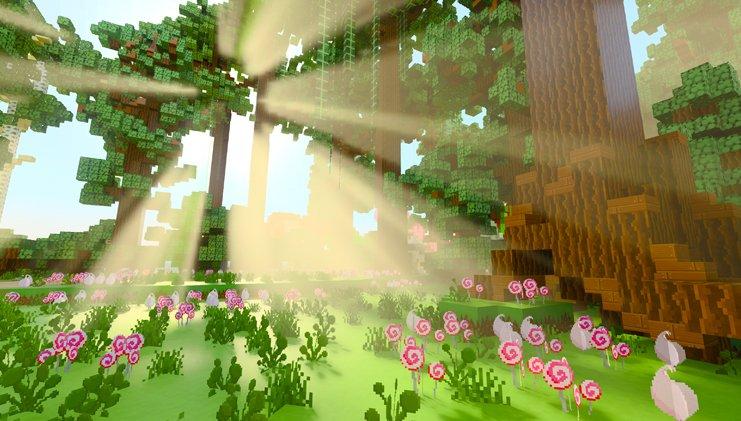16апреля появилась бета-версия Minecraft споддержкойRTX— оценить графическое улучшение могут владельцы видеокарт NVIDIA GeForce RTX 2060 илучше. Игра поддерживает трассировку лучей, физический рендеринг идругие передовые технологии визуализации 3D-графики, что кардинально меняет внешний вид виртуального мира.