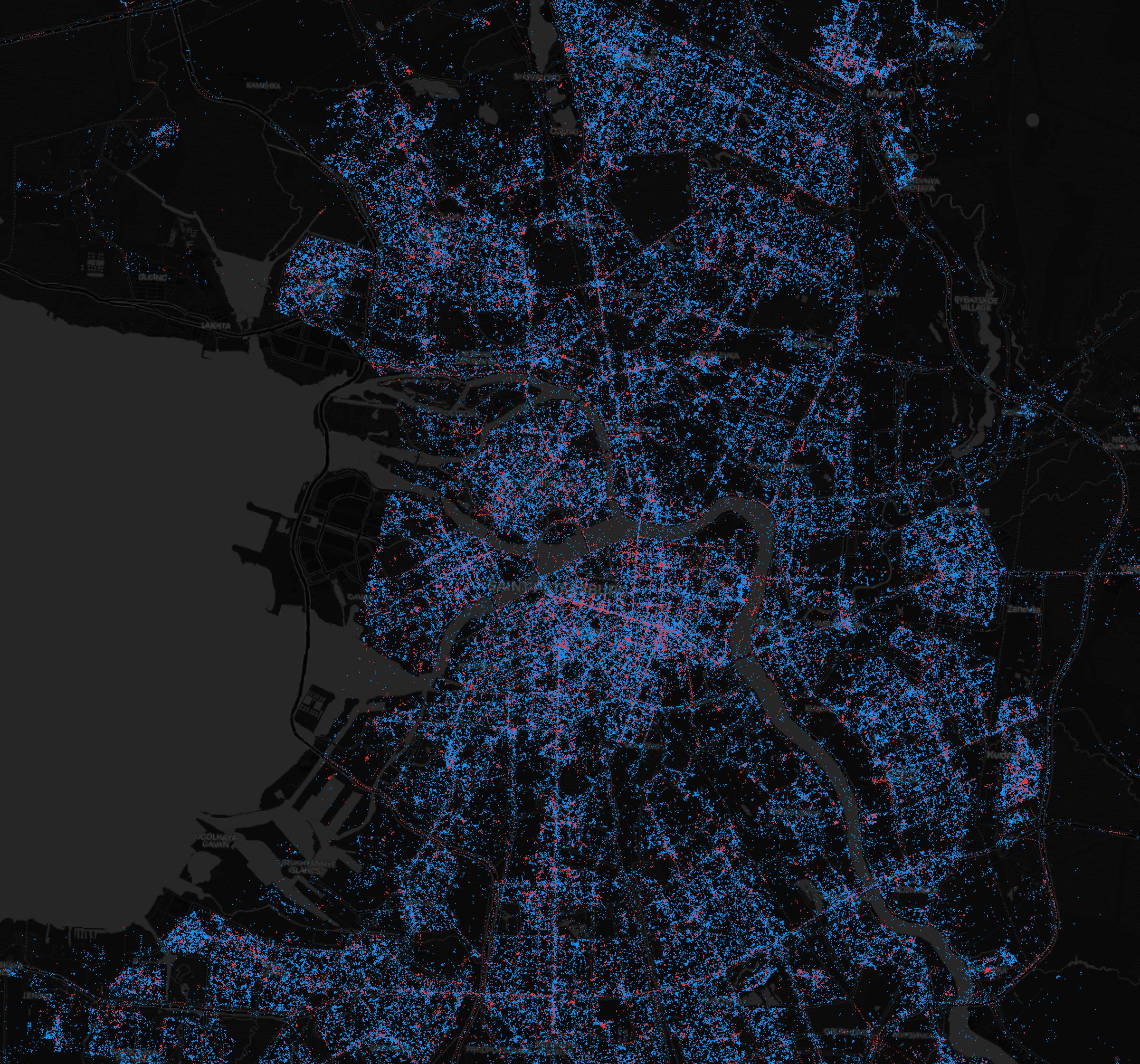 In Moscow - iPhones, in St. Petersburg - Android. What are the maps of Android and iOS users in Russia | Kanobu - Image 2