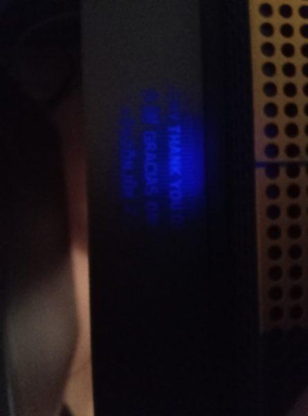 На Xbox One X в стиле Cyberpunk 2077 нашли скрытое послание