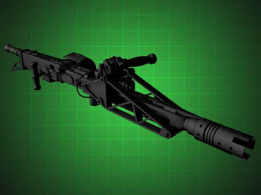 Самонаводящийся импульсный пулемёт со сменным стволом воздушного охлаждения.  Smart gun M56  это боевая система сост .... - Изображение 1