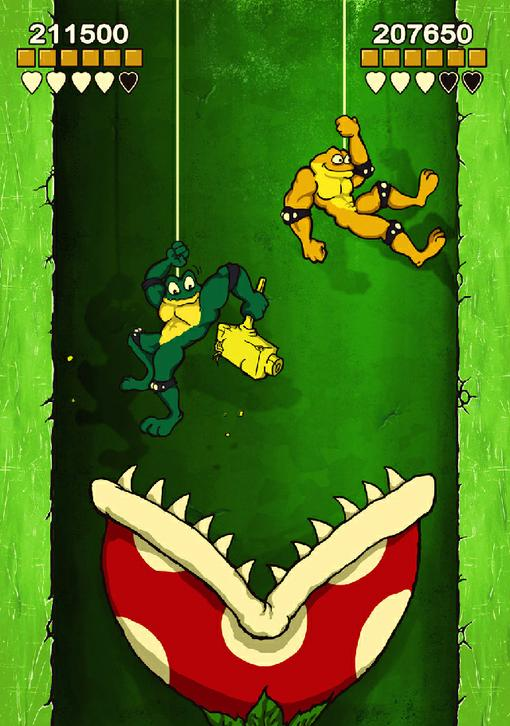 Hest, тот человек, который сыграл главного героя в моем прошлом ролике, нарисовал пару веселых картинок :)  Battleto .... - Изображение 1