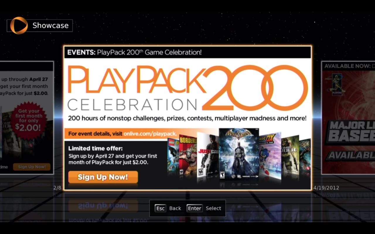 Cервис OnLive сегодня празднует юбилей - в PlayPack ровно 200 игр.  В честь этого события можно купить один месяц иг .... - Изображение 1