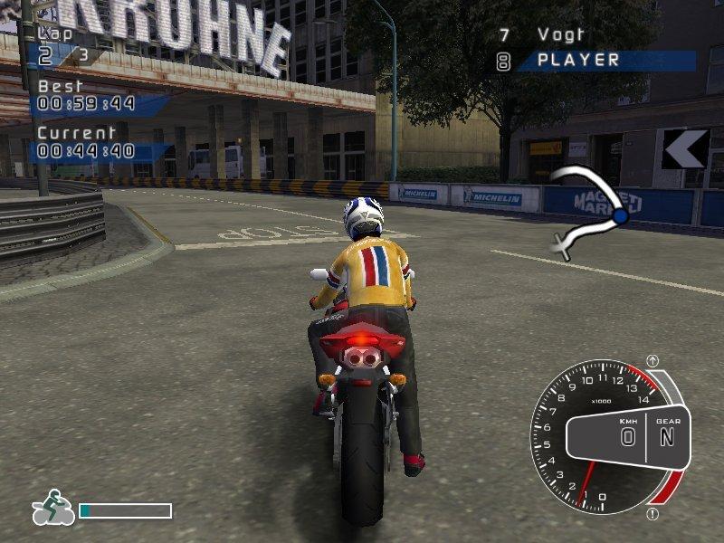 Установил игру Super-Bikes: Riding Challenge (от Milestone, авторов гениального SBK 2001), игра вышла почти в тот же .... - Изображение 1