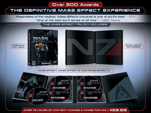 Компания BioWare обещает перевыпустить трилогию Mass Effect. В огромную коробку с пятью дисками войдет вся трилогия, .... - Изображение 1