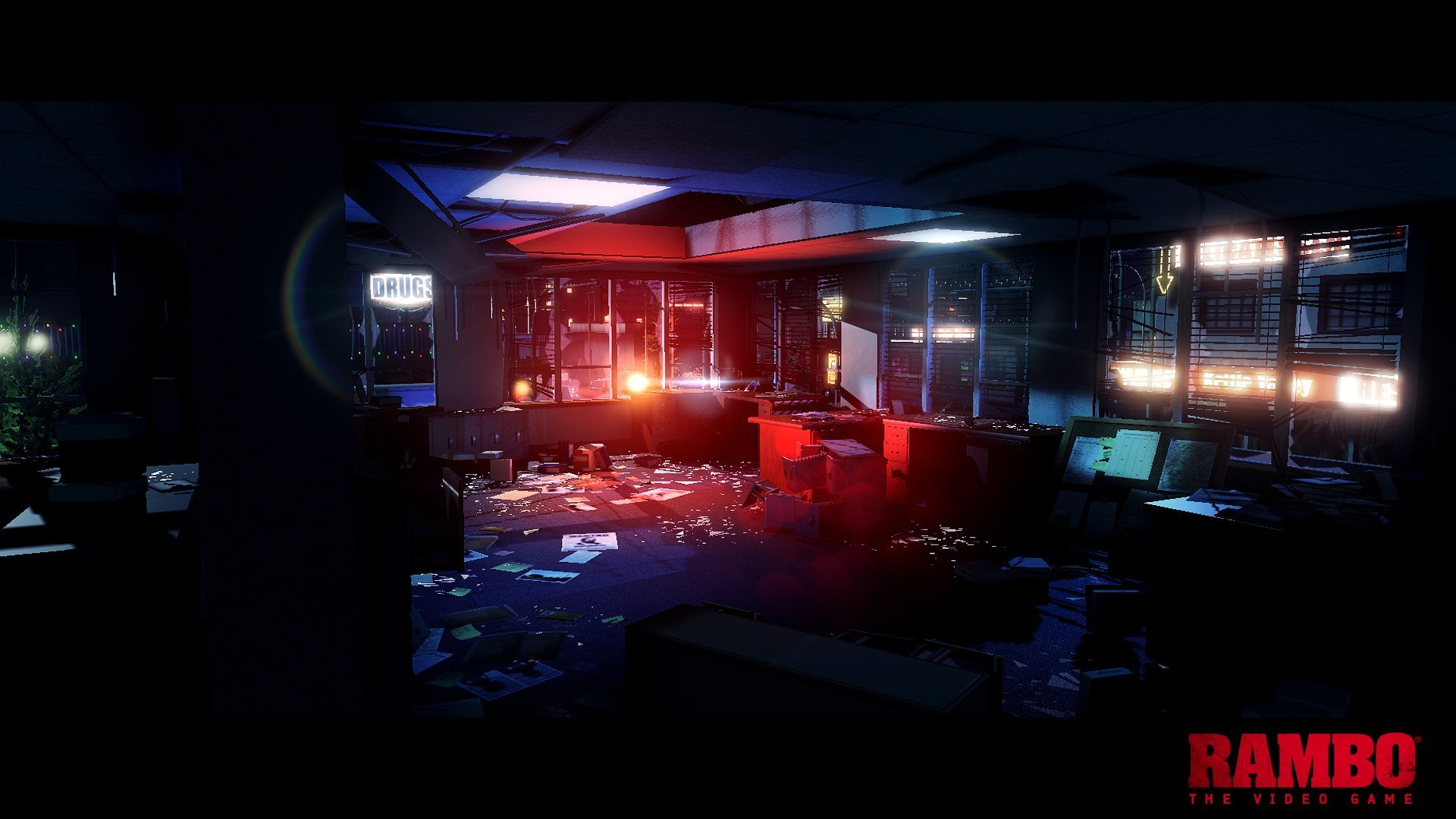 """Опубликован первый скриншот видеоигры """"Рэмбо"""""""