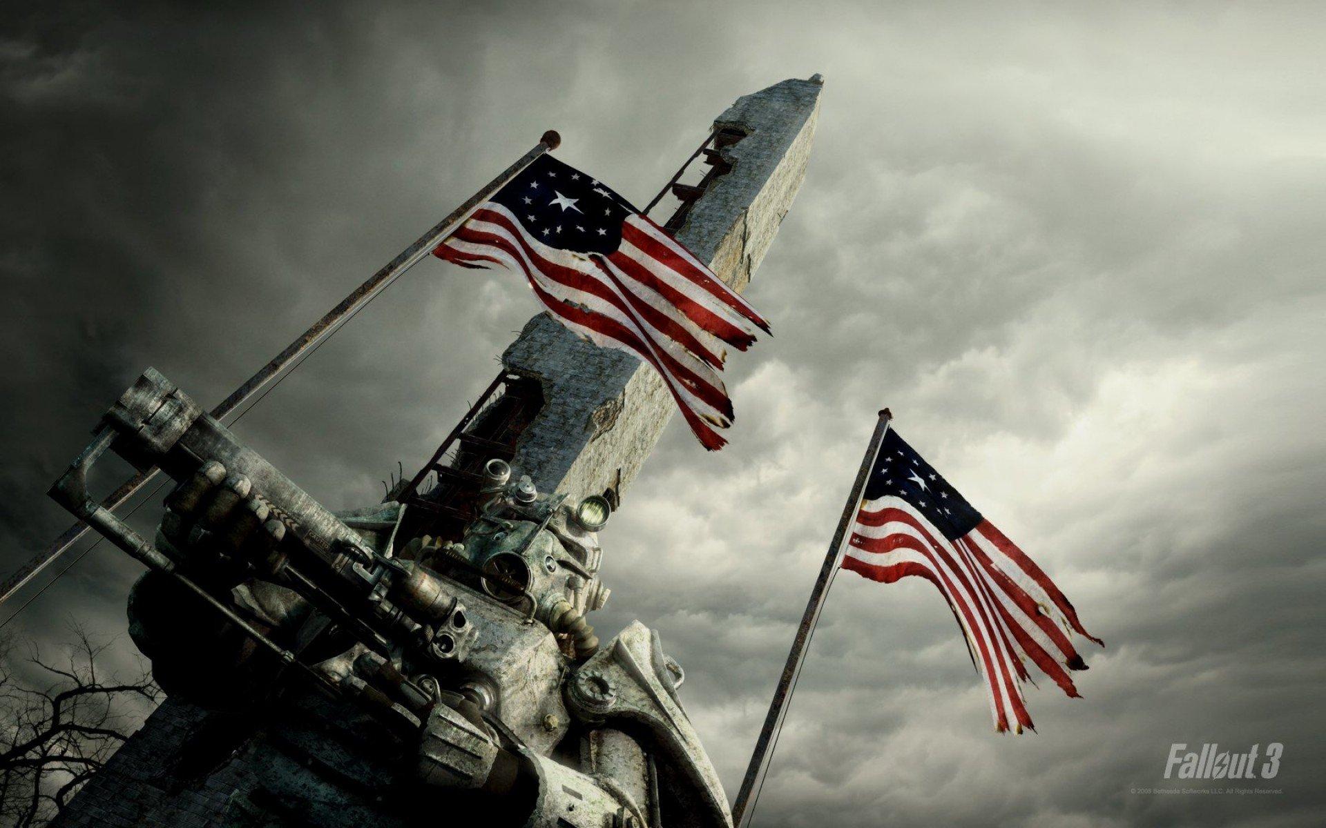 15\11\2012\ Семь штатов США из пятидесяти собрали подписи под петицией о выходе из состава США!  Флаг в игре Fallout .... - Изображение 1
