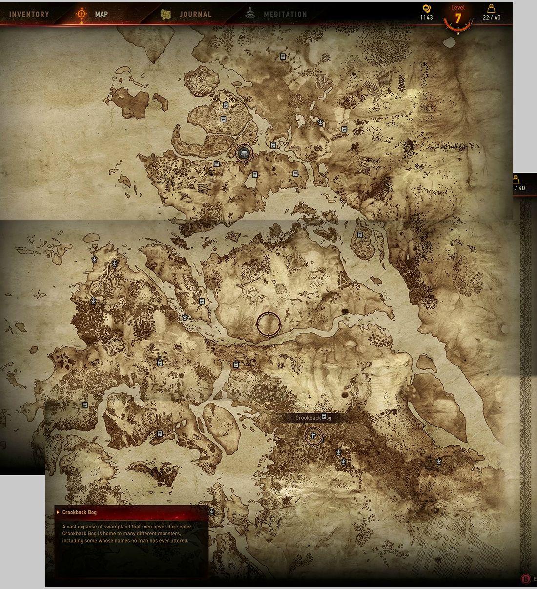 Карта мира The Witcher 3: Wild Hunt «Ведьмак 3: Дикая охота». - Изображение 1