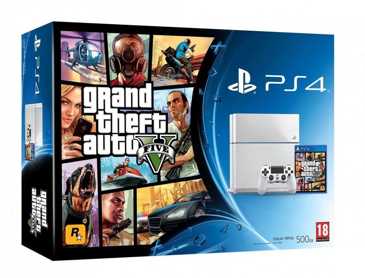 Вот такие вот бандлы PS4+GTA V поступят в продажу вместе с игрой 18 ноября.. - Изображение 1