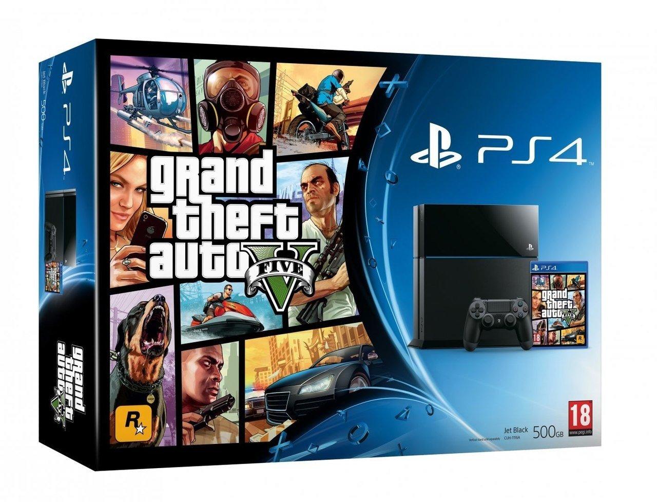 Вот такие вот бандлы PS4+GTA V поступят в продажу вместе с игрой 18 ноября.. - Изображение 2
