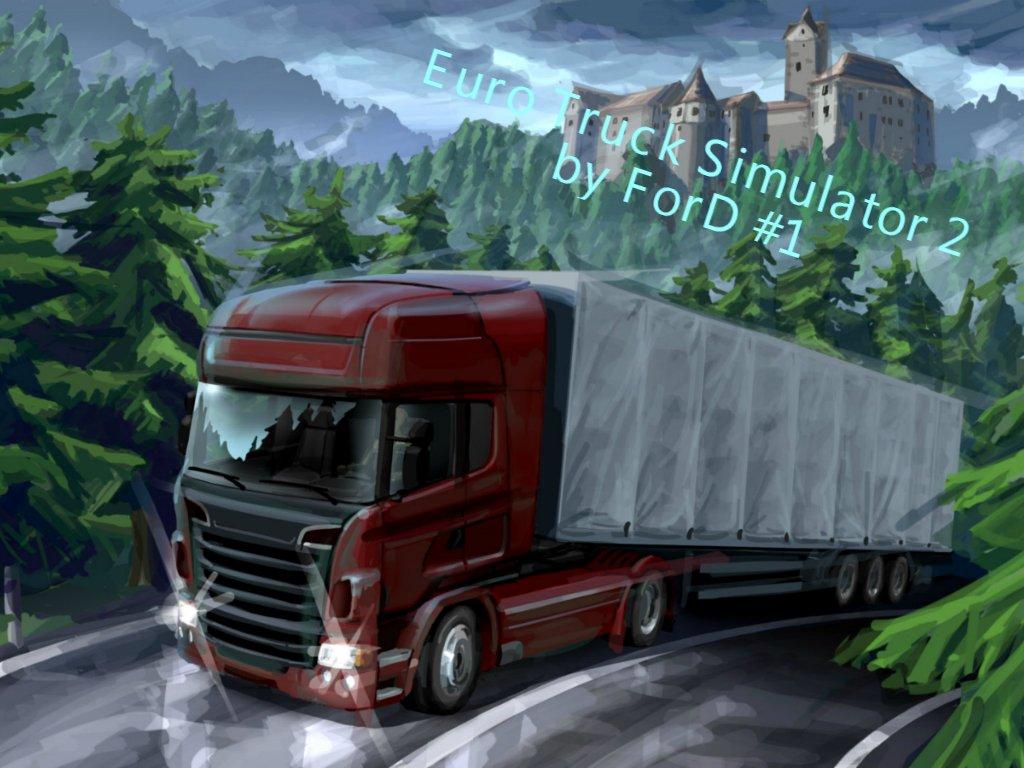 Играю в Euro Truck Simulator 2 за рулем Logitech G27, первая поездка . - Изображение 1
