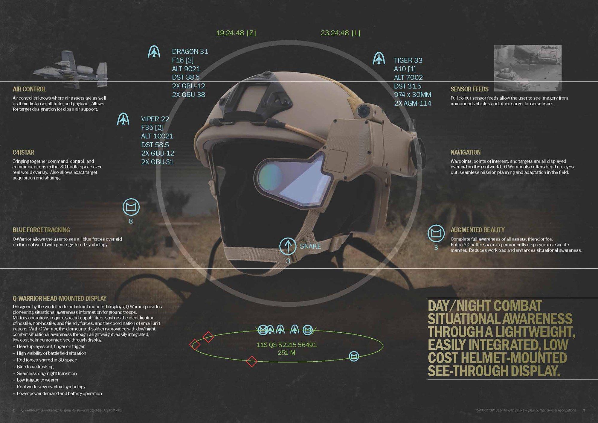 Кибер шлем для военных Q-Warrior. - Изображение 1