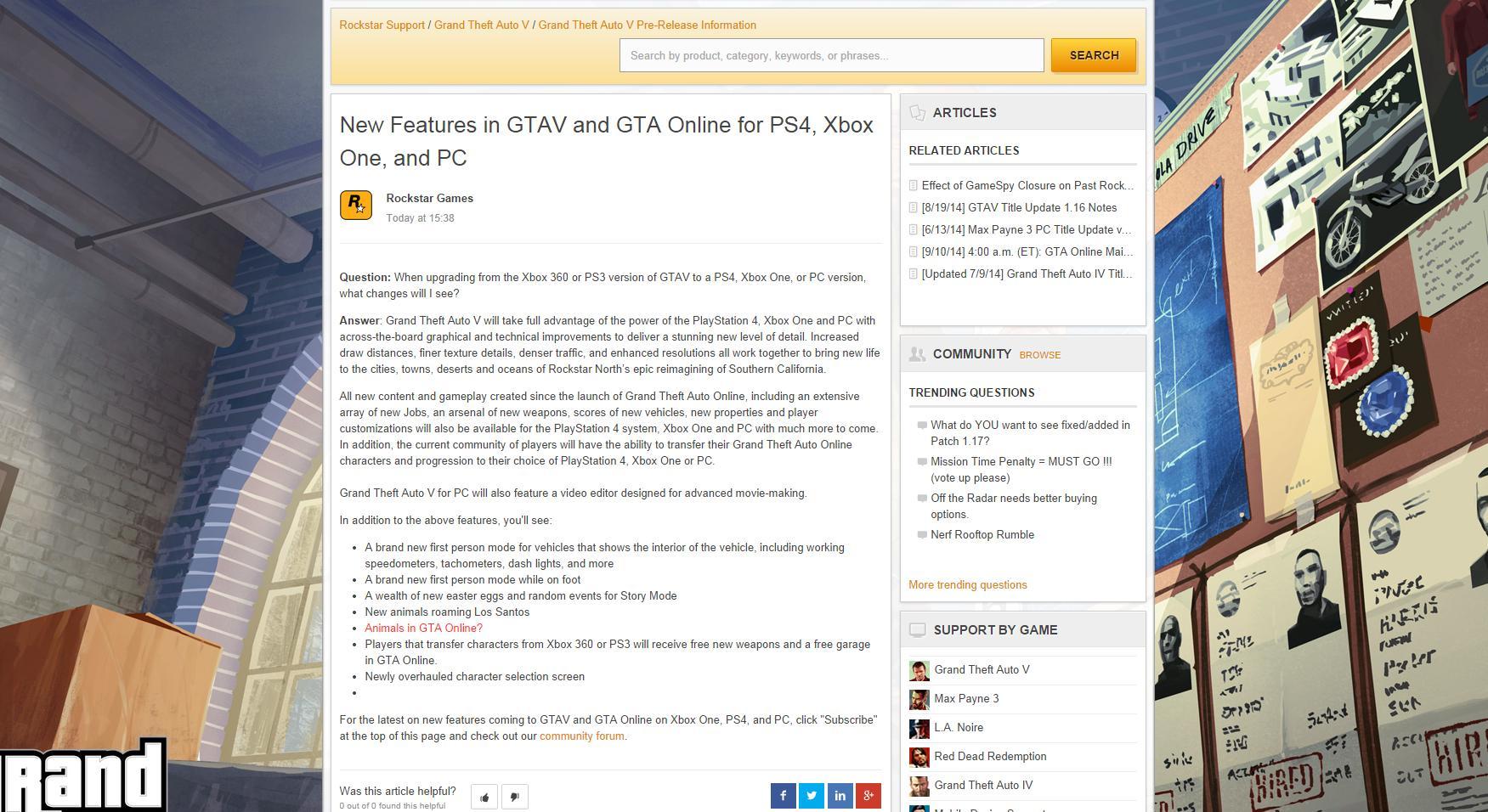 Rockstar случайно рассказала о видео от первого лица для GTA 5. - Изображение 1