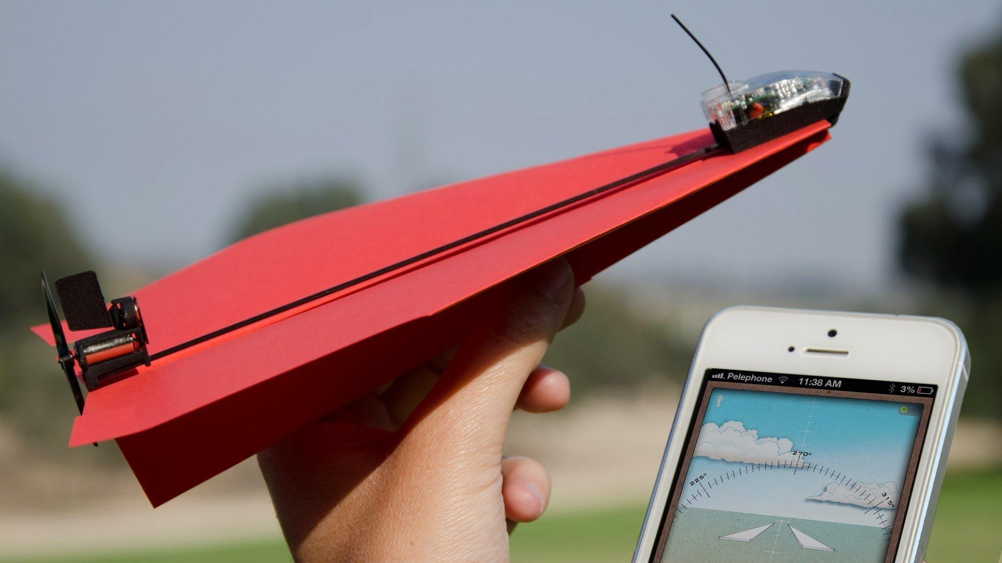 Радиоупровляемый бумажный самолётик. - Изображение 1