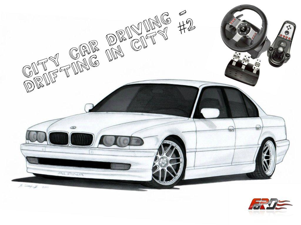 [ City Car Driving ] - drift ( дрифт ) BMW 750i E38 ( Бумер ), Toyota Sprinter drifting Logitech G27. - Изображение 1