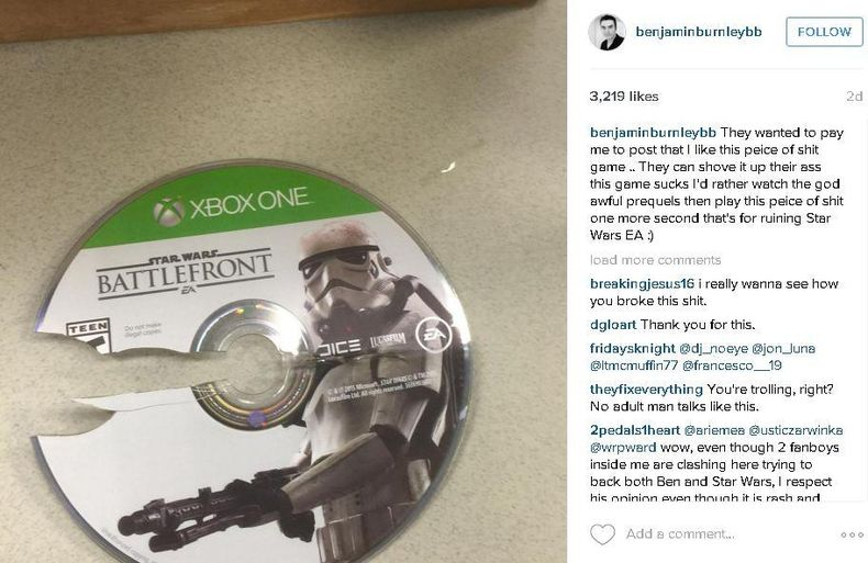 Солист Breaking Benjamin недоволен Star Wars: Battlefront и маркетинговой политикой EA. - Изображение 1