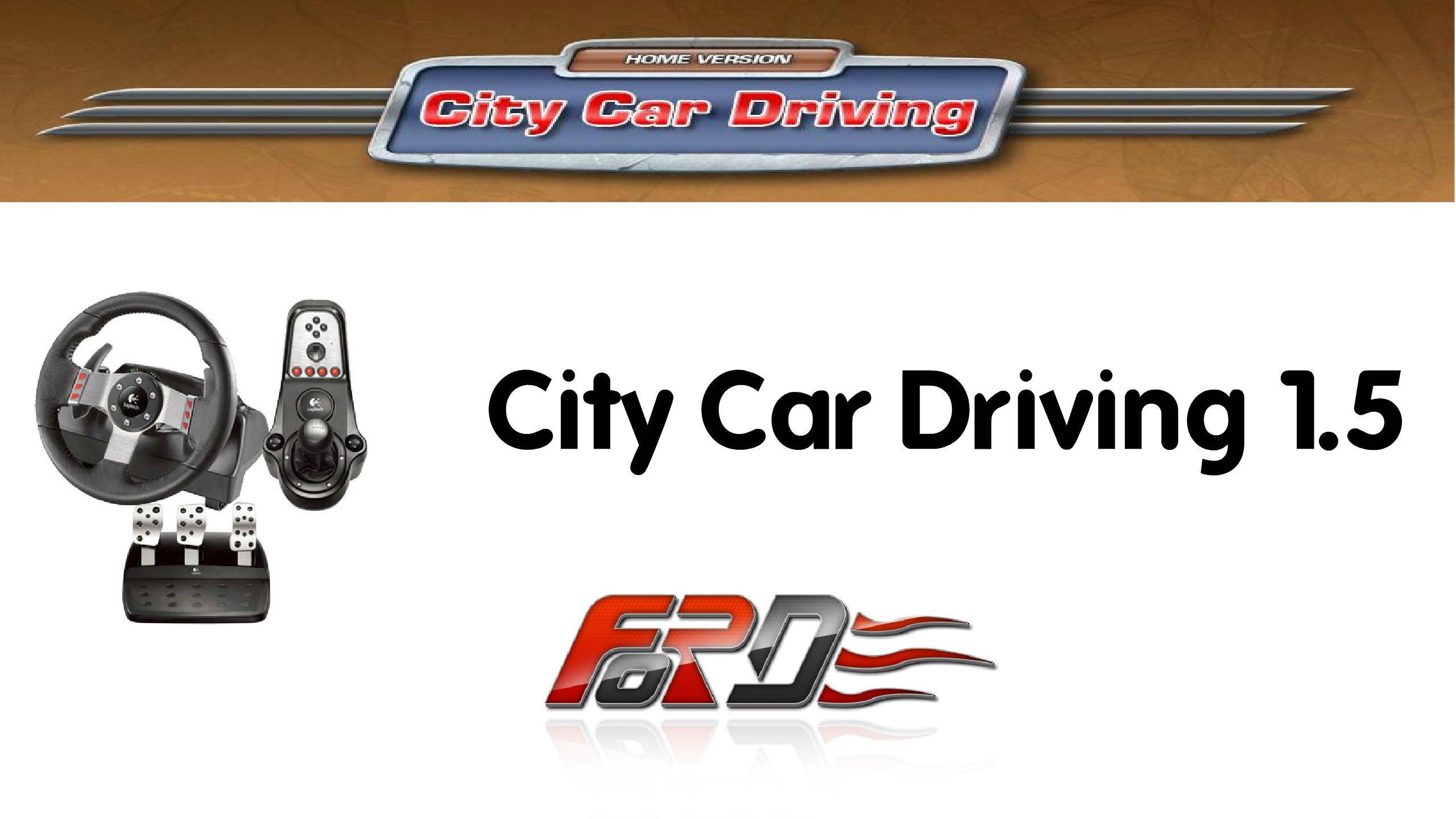 City Car Driving 1.5 обзор, новый район, зима, гололед, снег, регулировщик . - Изображение 1