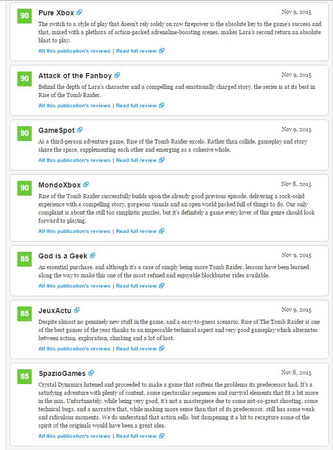 Первые оценки Rise of the Tomb Raider. - Изображение 3