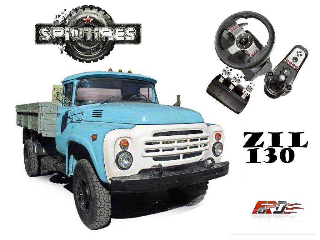 [ SpinTires 2015 ] обзор советских грузовых автомобилей и машин ЗИЛ 130 за рулем Logitech G27! . - Изображение 1