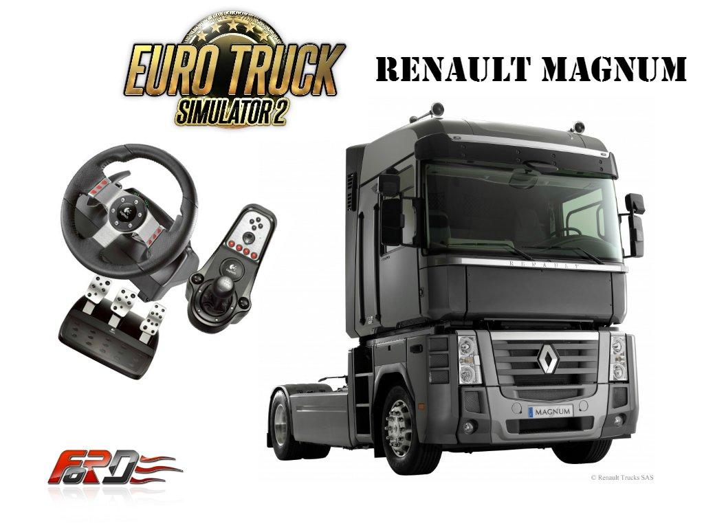 [ Euro Truck Simulator 2 Logitech G27 ] обзор, тест-драйв Renault Magnum - едем в Словению . - Изображение 1