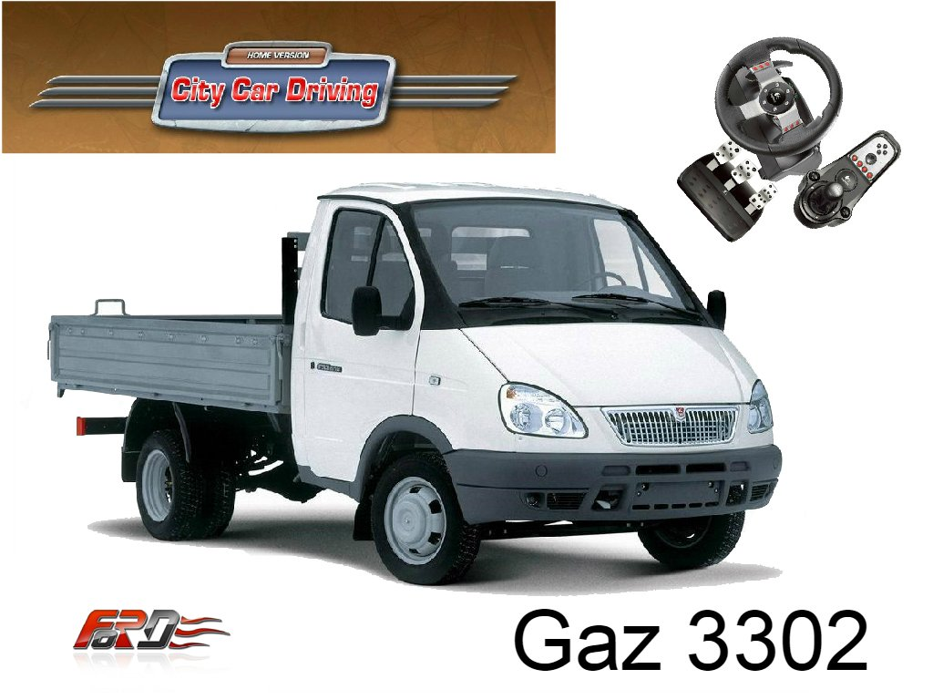 [ City Car Driving ] обзор грузовых фургонов, бусов Renault Trafic и Газ 3302 Газель Logitech G27 . - Изображение 1