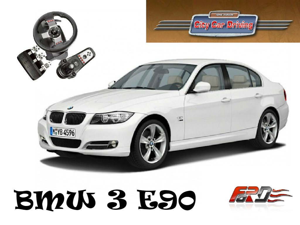 [ City Car Driving ] тест-драйв, обзор автомобилей BMW 3 Series E90, Honda Accord Logitech G27 . - Изображение 1