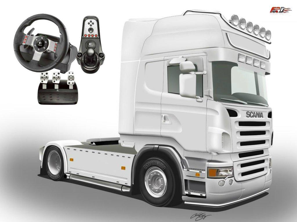[ Euro Truck Simulator 2 ] обзор грузовика Scania r500 Logitech G27 поездка в Венгрию . - Изображение 1