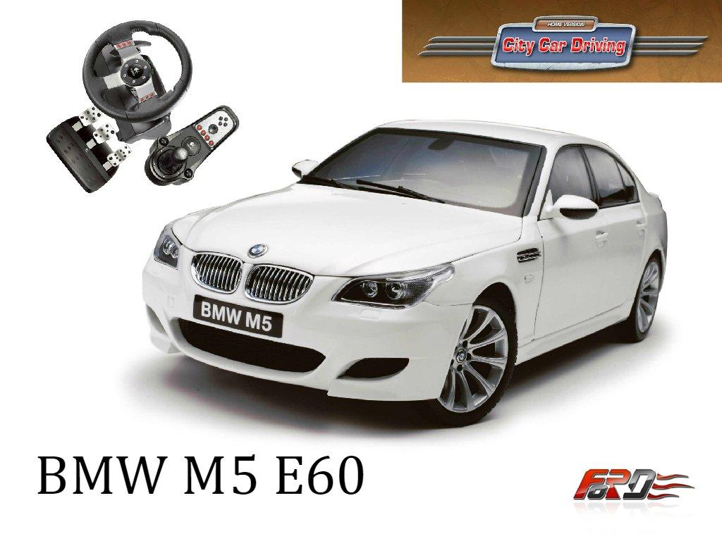 [ City Car Driving ] BMW M5 E60 и Porsche Panamera Turbo тест-драйв, обзор, сравнение автомобилей . - Изображение 1