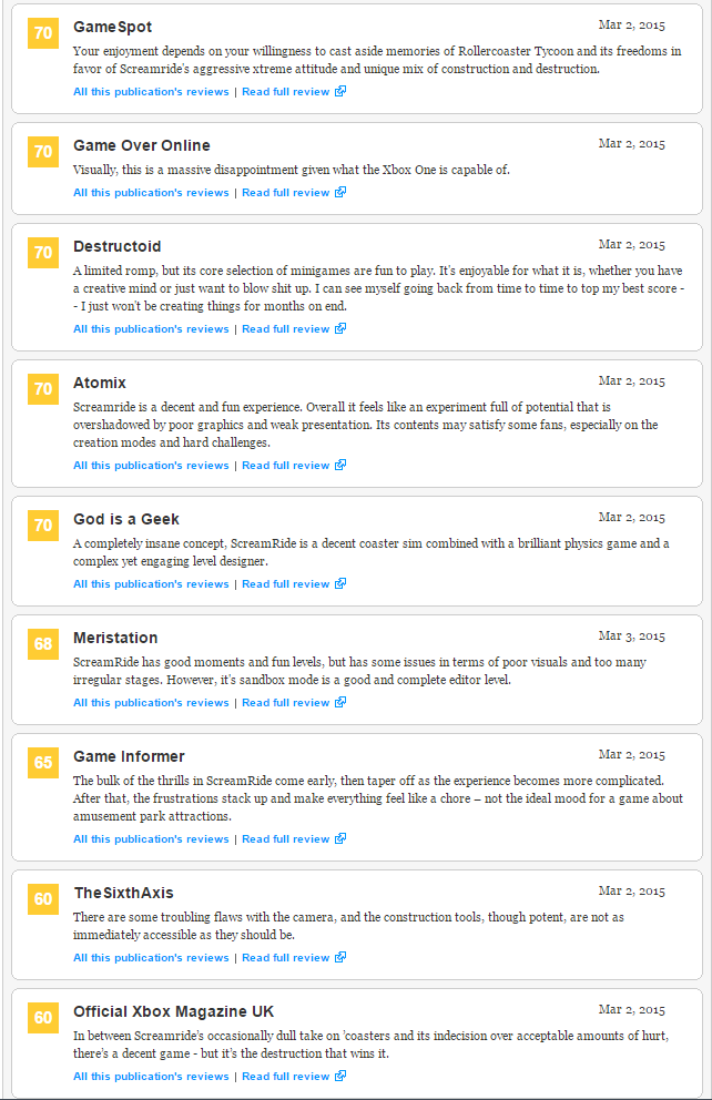 Screamride - первые оценки эксклюзива Xbox (71). - Изображение 4