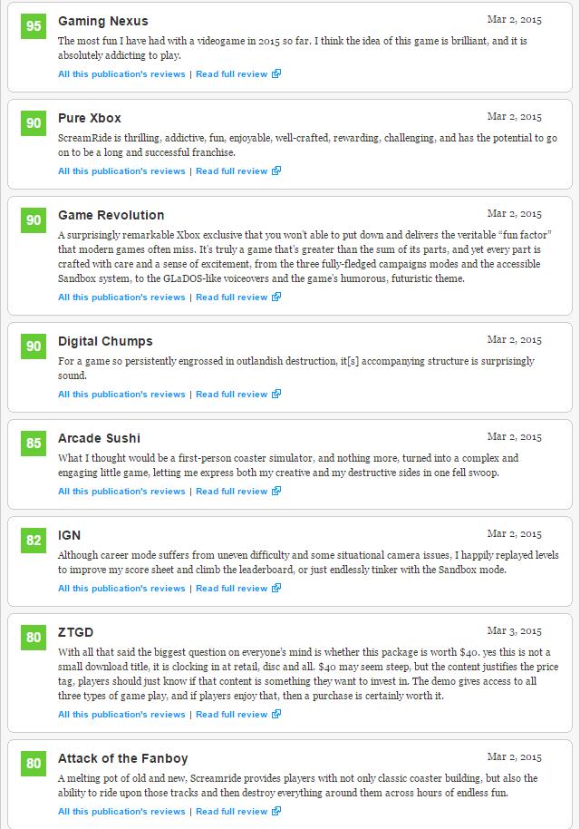 Screamride - первые оценки эксклюзива Xbox (71). - Изображение 2