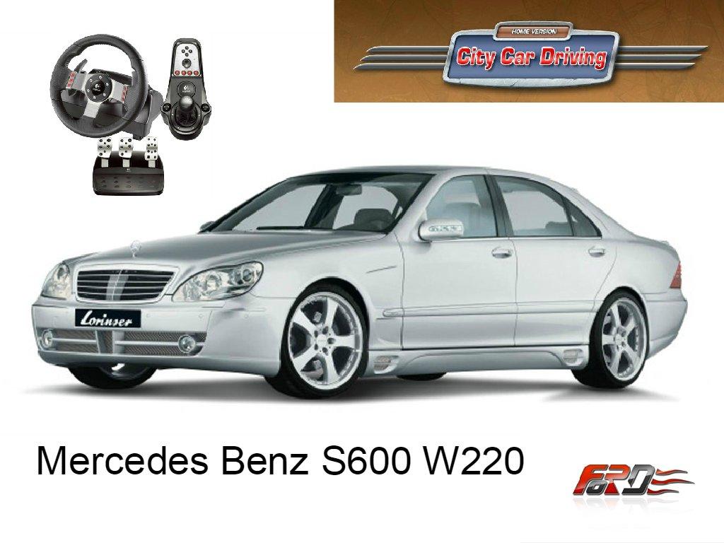 [ City Car Driving ] Mercedes-Benz S600 W220 тест-драйв, обзор, динамика, замеры по Racelogic . - Изображение 1