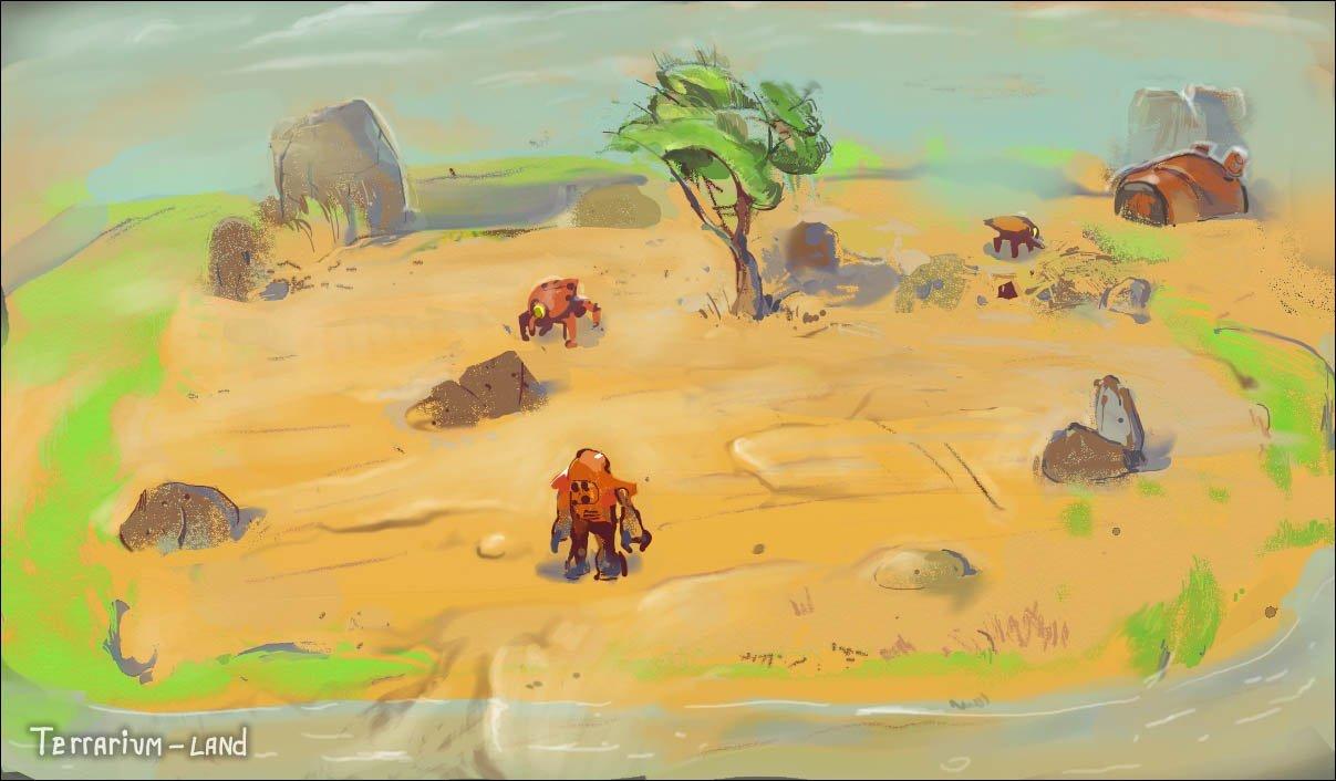 """Наброски уровней к игре """"Terrarium-land"""".. - Изображение 5"""
