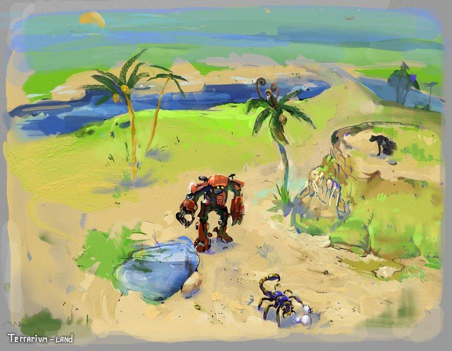 """Наброски уровней к игре """"Terrarium-land"""".. - Изображение 1"""