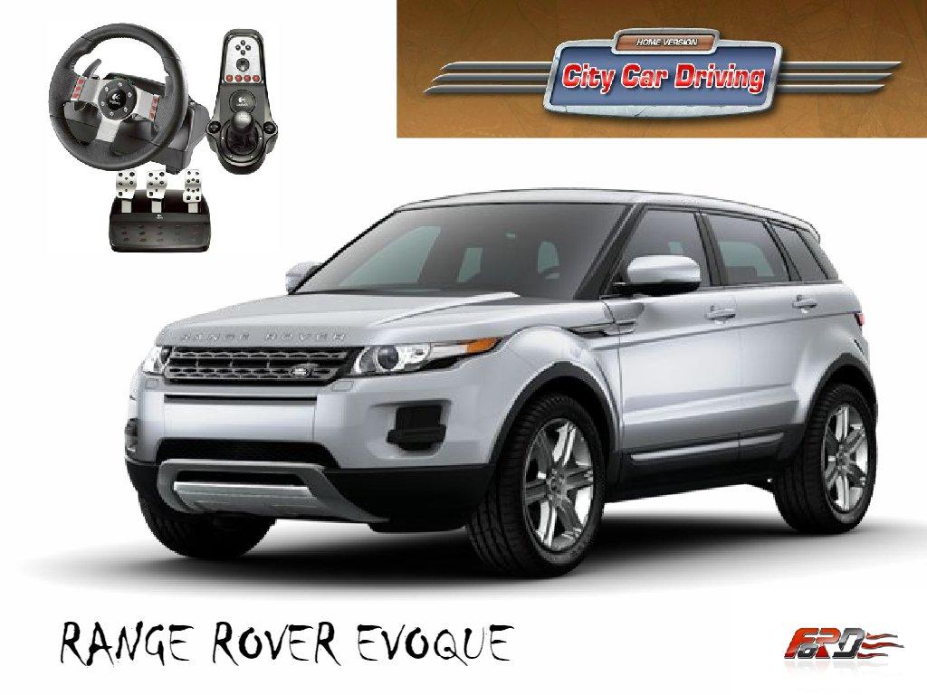City Car Driving Range Rover Evoque тест-драйв, обзор, замер разгона Racelogic Logitech G27 . - Изображение 1